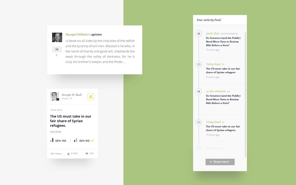 Polco Case Study voting and commenting platform designed and developed by Boldare